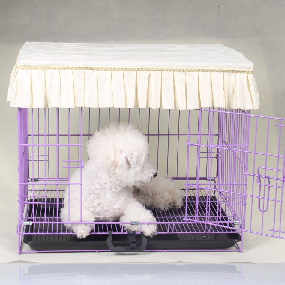 4Color New Lace Cloth Pet Dog Cage Cover Anti-dust Pet Supplies S M L XL(China (Mainland))