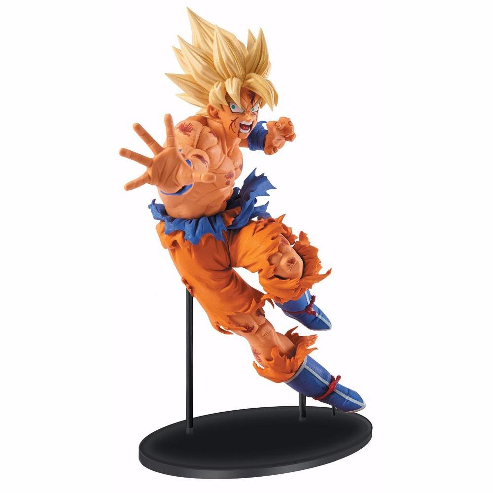 Anime Dragon Ball Z 18cm Kakarotto Goku Battle damage Super Saiyan dragonball z brinquedos PVC Action Figure hot toys dolls gift()
