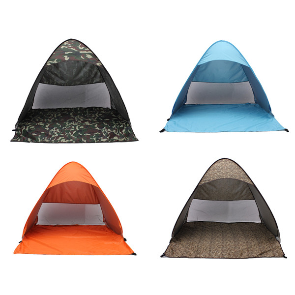 2-3 Persons Outdoor camping hiking beach summer UV protection fully sun shade quick open pop up beach awning fishing tent<br><br>Aliexpress