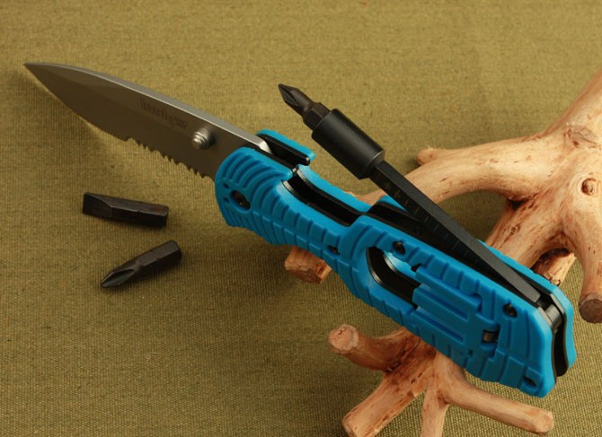 10pcs/lot, Kershaw Select Fire knife & Screwdriver Multi-tool 1920 free shipping ,blue color...(China (Mainland))