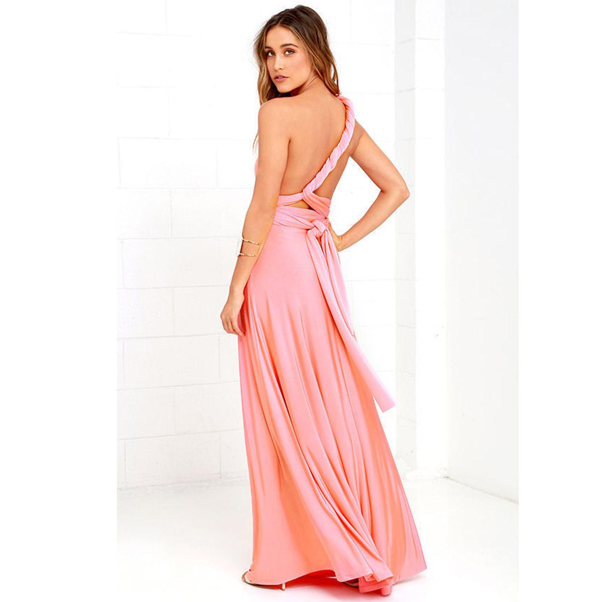 vestido de vendaje cruzado de múltiples cuerdas, vestido sin espalda ...