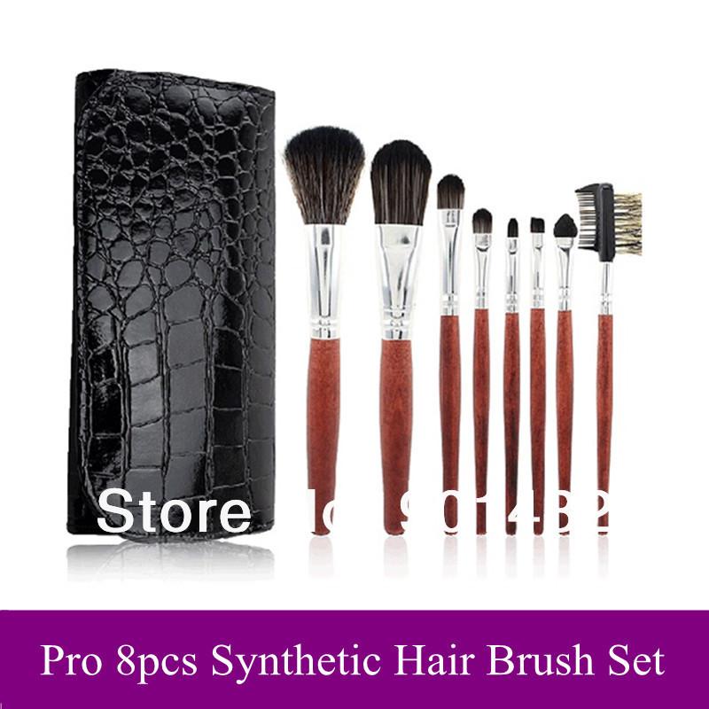 Fashion New 8 Pcs Basic Makeup Brushes Set Mak Up Tools Synthetic Soft Brush With Black