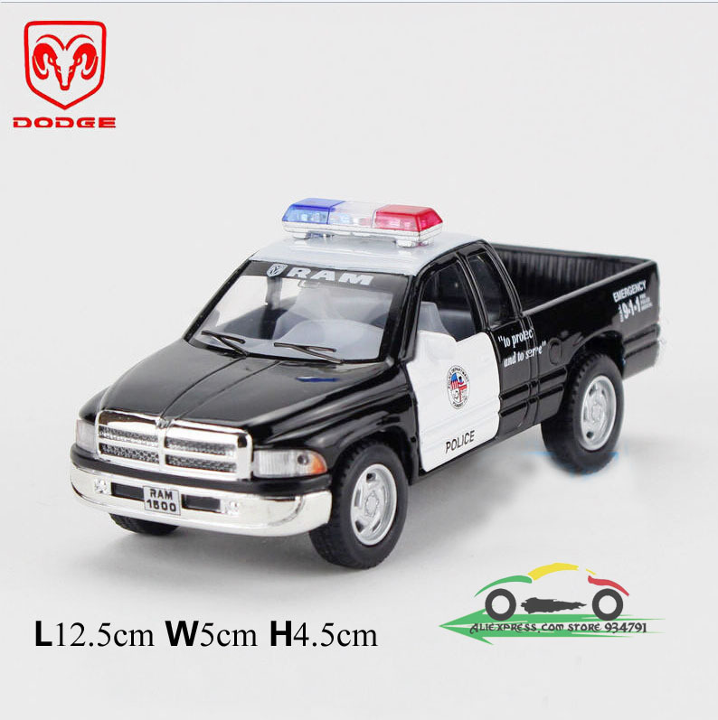 New 2015 Car toy for children 1: 43 Dodge pickup truck police truck model toy car sports racing cars diecast metal models gifts(China (Mainland))