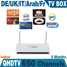 6 months QHDTV Arabic IPTV, 700+channels,>400HD arabic channels with all latest HD movies with leadcool tv box