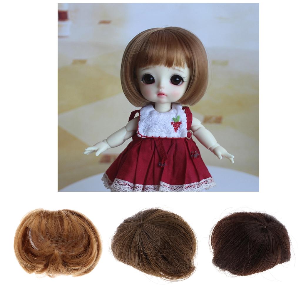 Adorable Doll Short Hair Bob Wig 1/8 BJD Doll Making Supplies