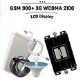 65dB LCD Display GSM 900 3G 2100 mhz Dual Band Repeater GSM 3G UMTS Cell Phone