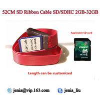 52CM 20.4 Inch SD to SD card extension cable PVC material for car GPS and car DVR support 32GB 10pcs/lot