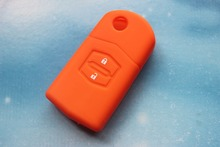 Buy 2 Buttons Car Silicone Key Case Cover Orange Color Fit Mazda 3/6 Folding Remote Keys for $1.15 in AliExpress store