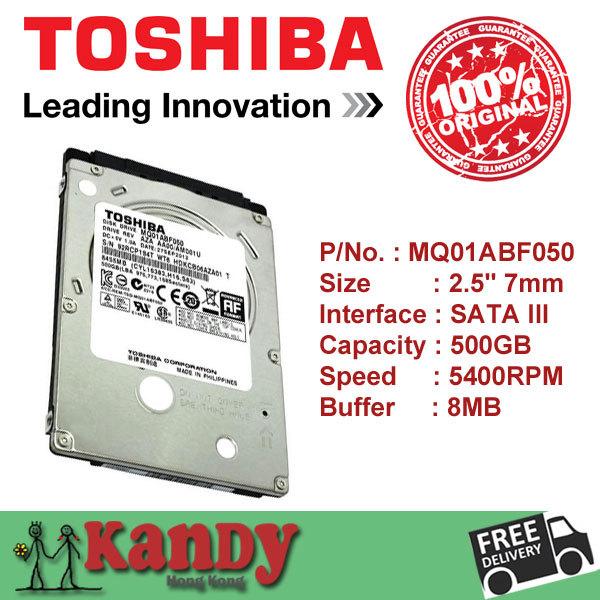 Toshiba 500GB hdd 2.5 SATA 5400rpm disco duro laptop internal sabit hard disk drive interno hd notebook harddisk disque interne(China (Mainland))