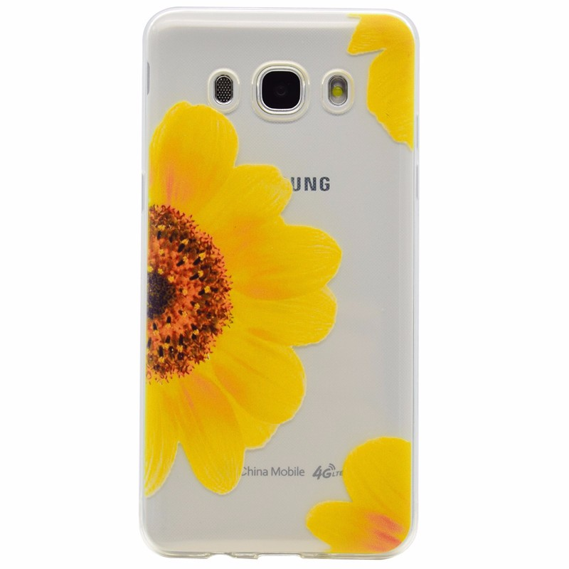 Cartoon Ultra-thin Transparent Soft TPU Silicon Phone Case For Samsung Galaxy J5 2016 J510 J510F Butterfly Floral Back Cover