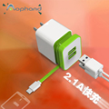 High Quality Newest Cell Phone Tablet PC Charger Adapter With Two Ports Micro USB Charging Cable