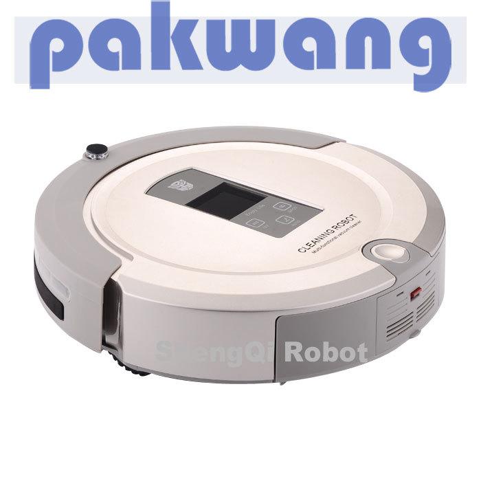 4 In 1 Multifunctional Robot Vacuum Cleaner,  LCD,Touch Button, Clean Schedule, Rechargablerobotic floor sweeper