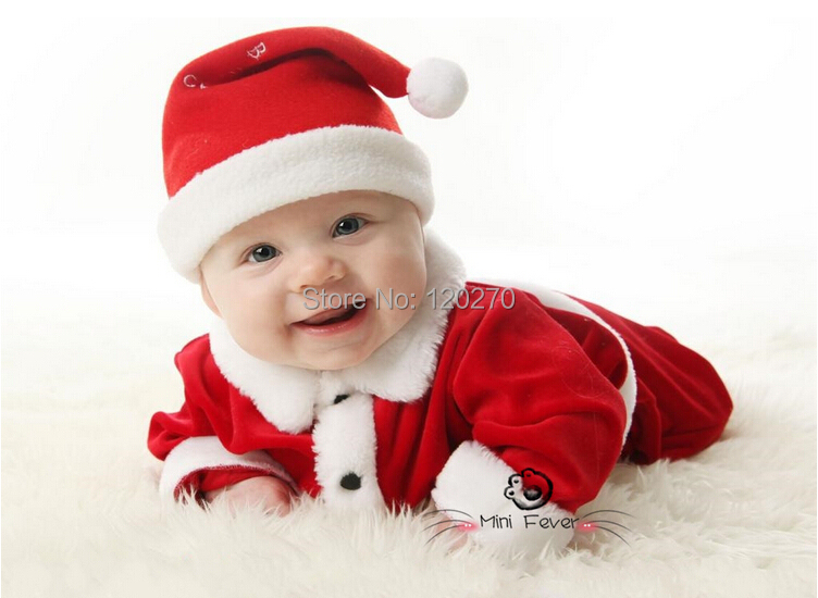 2015 Winter Baby Boys Girls Christmas Coat + Pants +Xmas Hat Suit Newborn Infant Toddler Children Clothes Suit Kids Outfits Sets(China (Mainland))