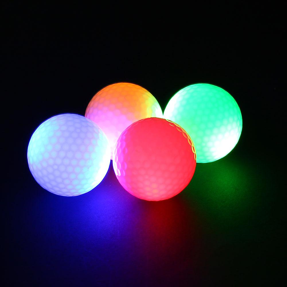 2Pcs Night Tracker Flashing Light up Glow Golf Balls LED Electronic Golfing(China (Mainland))