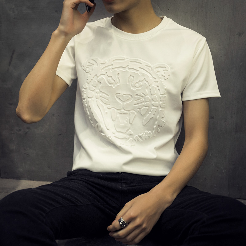 Fashionable And Casual 2016 Casual Men's Wear Short Sleeves T-Shirt, Printing Famous Brand Printed T Shirt Men Clothing(China (Mainland))