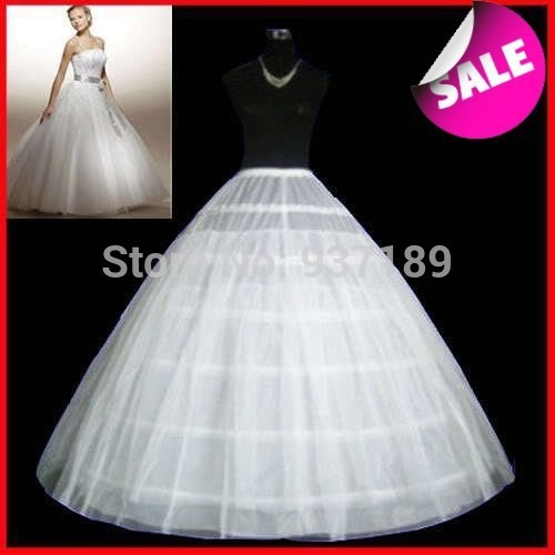 Hot sale petticoat unique design white 6 hoops ball gown for Wedding dress hoops for sale