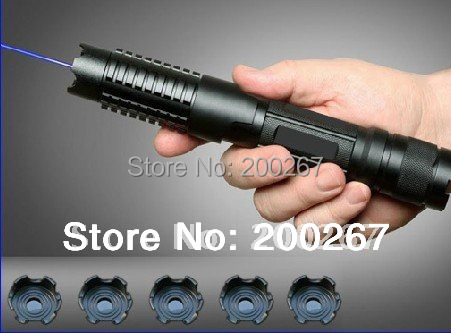 OXLasers OX-BX4 445nm 1000mw-4000mW metal cased 5in1 burning focusable blue laser pointer (5 star caps) +Free Shipping