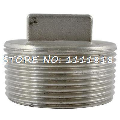 "304 Stainless steel Square Head Pipe fitting Plug 1/4"" Malleable male threaded(China (Mainland))"