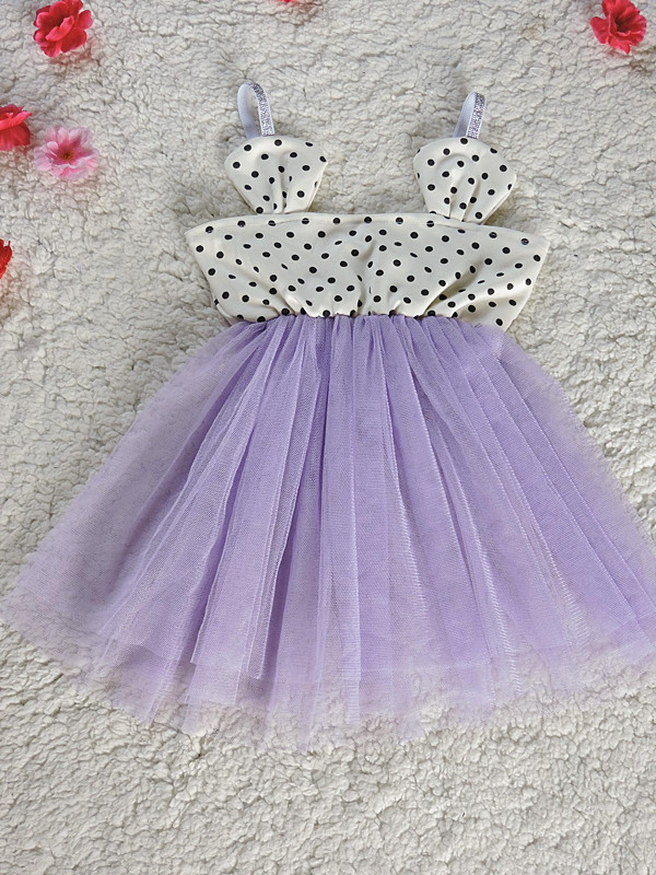2016 Baby Girls Tulle Lace Dresses Kids Girl Polka Dots Mickey Singlet Dress Girl Princess Dress Babies Summer Clothes<br><br>Aliexpress