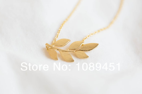 Colgantes Mujer 30 pcs/lot Pretty Organic Laurel Leaf Necklace Leaf Neclace for Fashion Women Girls(China (Mainland))