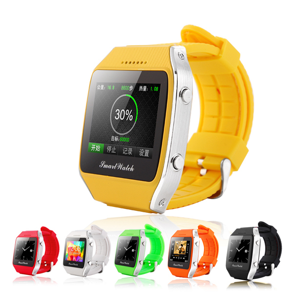 2015 Smart Android phone watch 1.65 inch Capacitive touch screen Bluetooth GPS watch with Pedometer GPS location SIM card FM SOS(China (Mainland))