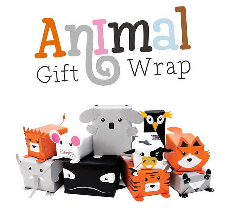 Animal Gift Wrap DIY Wrapping Paper / Printed Gift Paper Children Day New Year Gift Packaging Paper Christmas Xmas Day(China (Mainland))