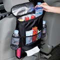 Auto Back Car Seat Organizer Holder Foldable Multi Pocket Travel Insulated Food Container Basket Stowing Tidying