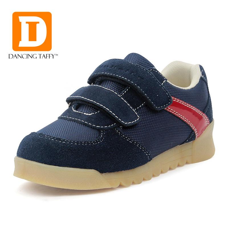 nieuwe mode kinderen casual schoenen 2015 klittenband koe spier lederen oxford sport lopen sneakers kinderen schoenen jongens schoenen voor meisjes(China (Mainland))