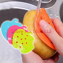 Multi-function Vegetable & Fruit Brush Potato Easy Cleaning Tools Kitchen Gadgets 2015 hot sale(China (Mainland))