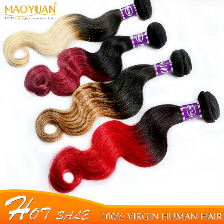 MYM Honey Ombre Hair Extensions Two Tone Queen Hair Brazilian Body Wave Weaving Virgin Brazilian Hair 4 Bundles Free Shipping <br><br>Aliexpress