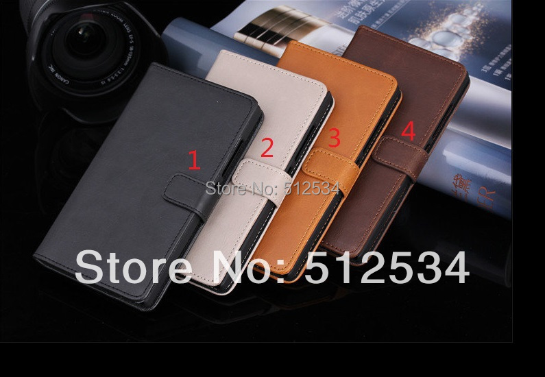 80pcs/lot Free Shipping Good quality Wind Crazy horse leather wallet case with card holder for Nokia XL(China (Mainland))