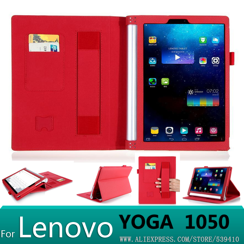 With wallet Card Luxury PU leather case cover For lenovo yoga tablet 2 10 1050F 1050