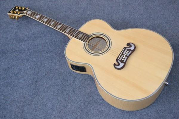 2015-Jumbo Acoustic Guitar Pete Townshend Signature Acoustic Guitar AAA Solid spruce Back / Side Tiger stripes Fishman mic(China (Mainland))