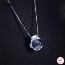 Ataullah Water Drop Натуральный Белый Кристалл Ожерелья Кулон Стерлингового Серебра 925 Слеза Eyedrop Женщины Ювелирные Изделия 925 Кулон NWP109(China (Mainland))