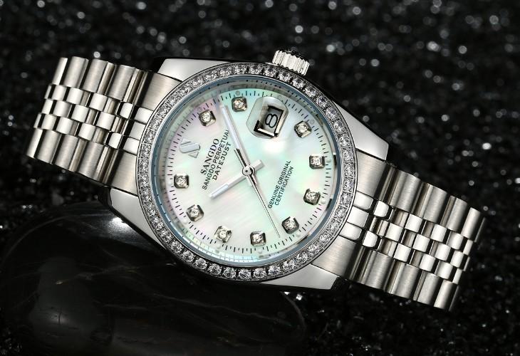 38 ММ SANGDO мужские часы Автоматическая Self-ветер движения Высокое качество Роскошные Механические часы 330ff