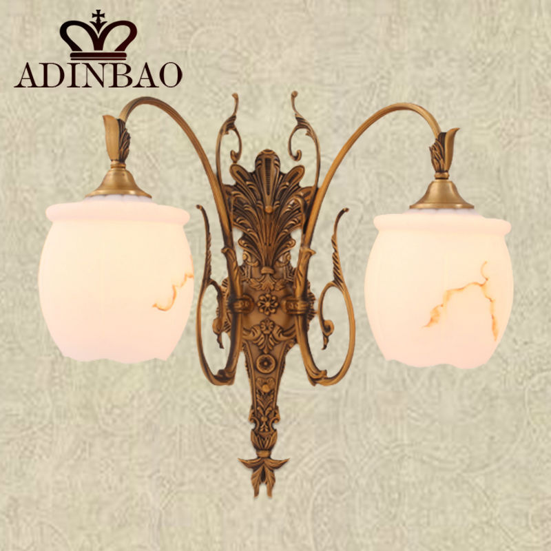 2015 New style Copper Glass Wall lamp with high quality 8008-2<br><br>Aliexpress