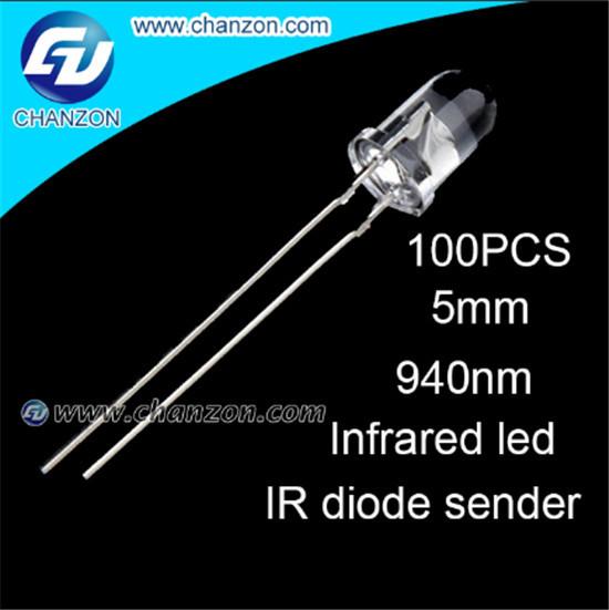 100Pcs 5mm IR Led 940nm Lamp Transmitting Tube Emitting Diode Infrared LED Diode ir 940nm High Power(China (Mainland))