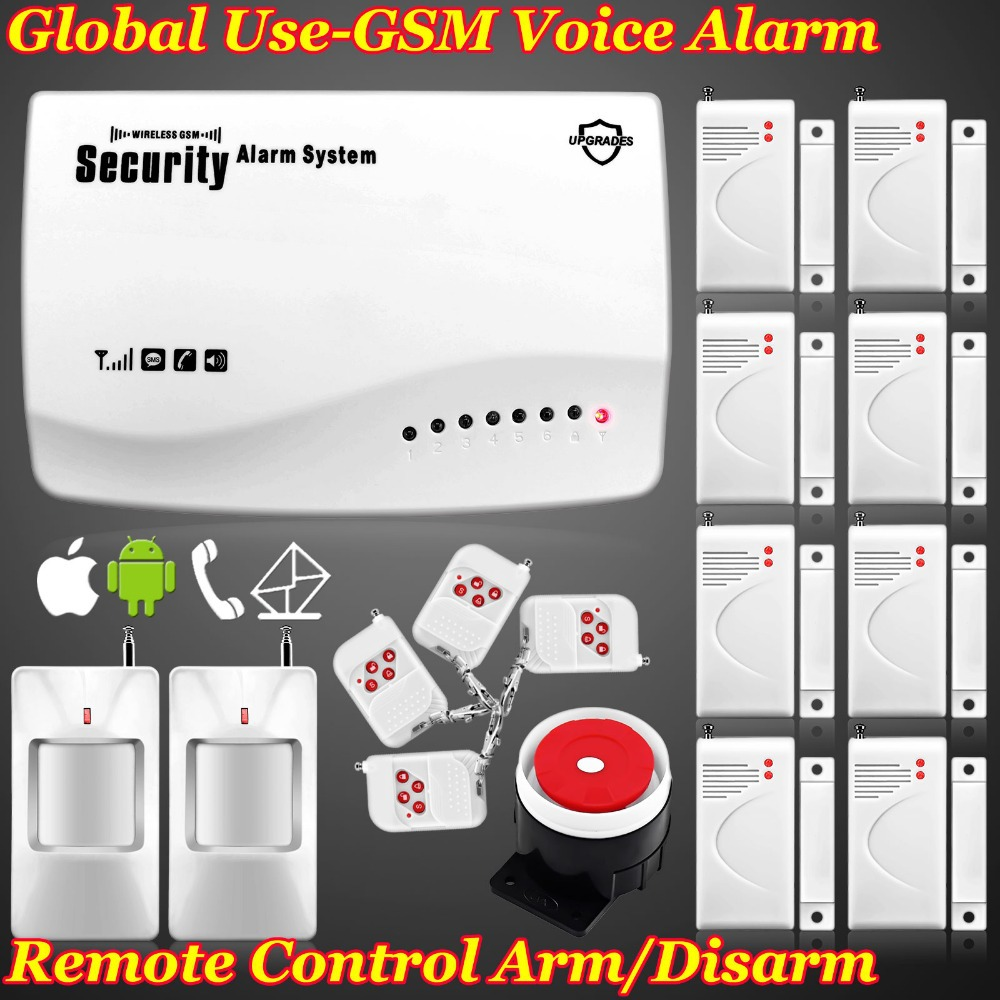 Free shipping! Real Voice Prompt ~ Most Cost-Effective Wireless Home Intelligent Burglar GSM Alarm System 900/1800Mhz