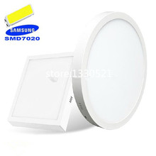 Round/Square Samsung SMD7020 LED Panel Lights 9W 15W 21W 30W Super Bright Surface Mounted LED Ceiling Light Downlight(China (Mainland))