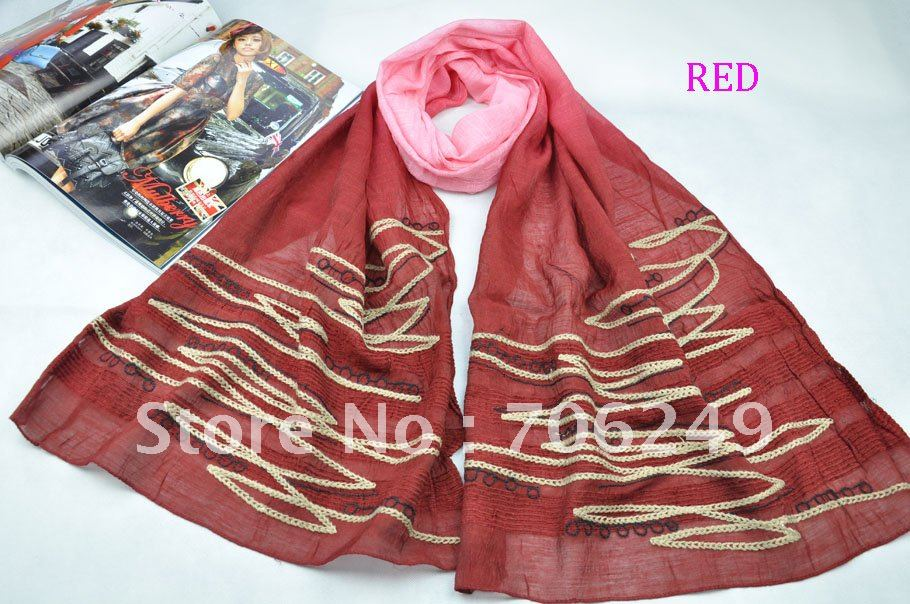 ,patchwork shawl,polyester scarf,emboridery scarf,new design - ELLEN FASHION ACCESSORIES store