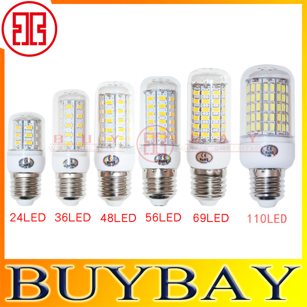 220V/110V SMD5730 24LED 36LED 48LED 56LED 69LED 110LED lamp 7W 12W 15W 20W 25W 35W 40W E27 crystal chandelier led bulb light(China (Mainland))