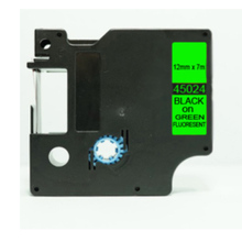 45024  DYMO D1  12mm*7m  black on green  45024 DYMO D1 Label Tape Compatible for DYMO printer  ribbons  Printer Supplies