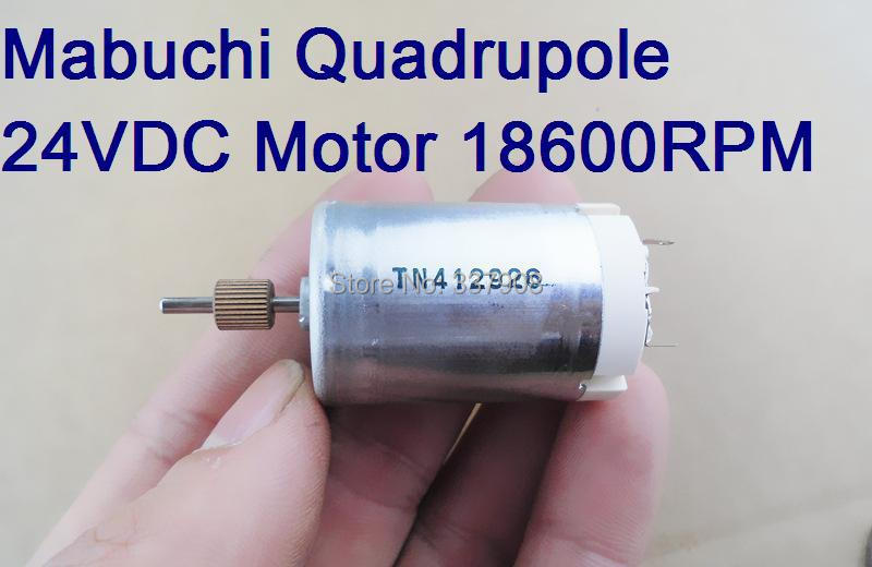 2PCS Mabuchi RK-384CA 24V DC Motor High Speed With Quadrupole Rotor 3 Anti-interfere Capacitors and Voltage Stabilizing Chip(China (Mainland))