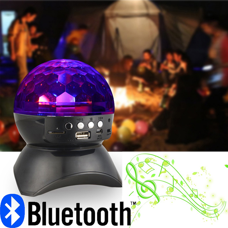 portable Wireless bluetooth MP3 Speaker with LED RGB dmx Stage Lights Effect & FM Radio Function For Party KTV Disco DJ(China (Mainland))