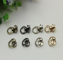 Free shipping (10 pcs/lot) diy bag accessories metal package with lateral ring screw Bag buckle all sorts of rivet on the nail(China (Mainland))