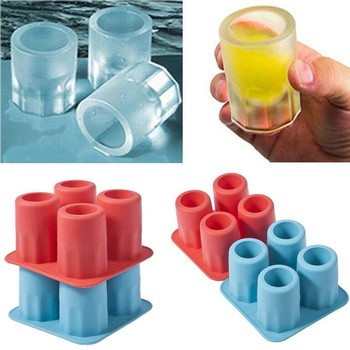 Hot New ONLY Bar Party Drink Ice Tray Cool Shape Ice Cube Freeze Mold Ice Maker Mould You can eat a cup 4-Cup Ice mold cup