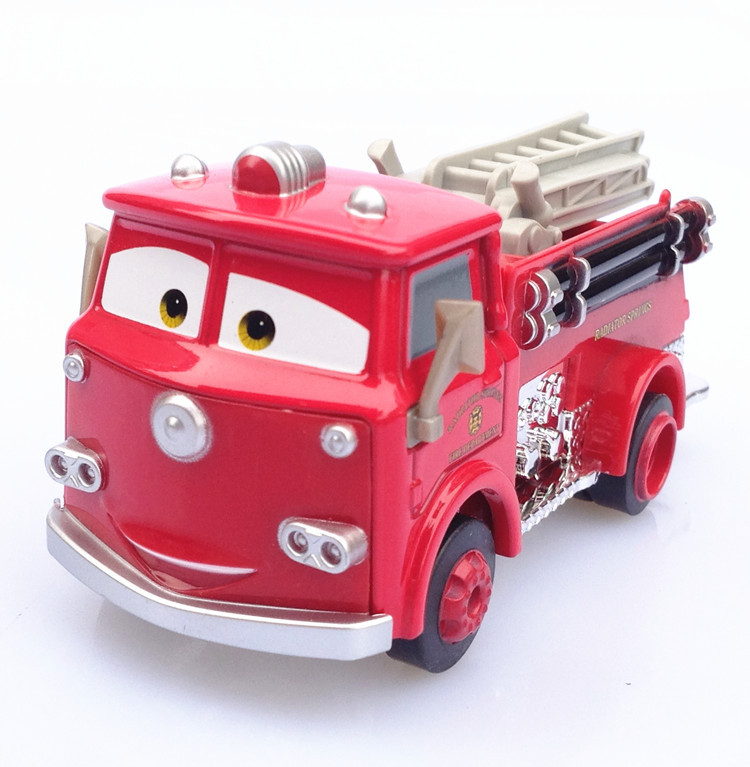 Children's toy car Red fire truck diecast metal toy car(China (Mainland))