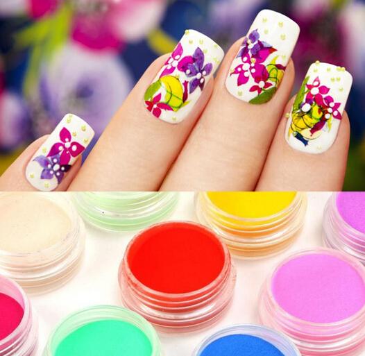 Цвет пудра на ногтях