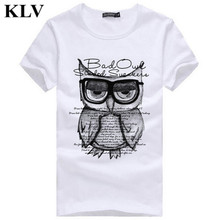Buy 2017 Men's Summer Casual Tops Cool Boys Stylish Cottom Owl Printed T Shirt Fashion Hipster Tees Jan10 for $3.59 in AliExpress store