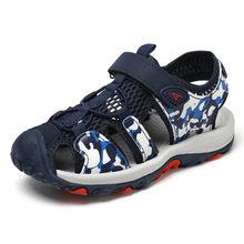 ילדי קיץ נעליים יומיומיות ורוד שחור כחול Leopard בני בנות סנדלי פעוט חוף סנדלי סגור הבוהן ילדי נעליים(China)